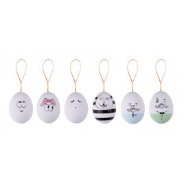 Gift Company Osterdeko Ostereier EGGS FACES 6er Set